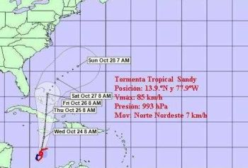 Tormenta Tropical Sandy