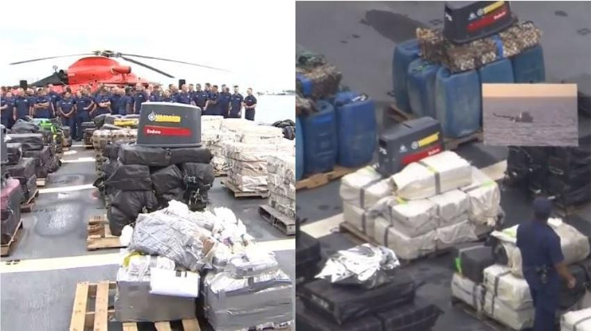 La Guardia Costera descarga $ 500 millones en cocaína incautada en el mar