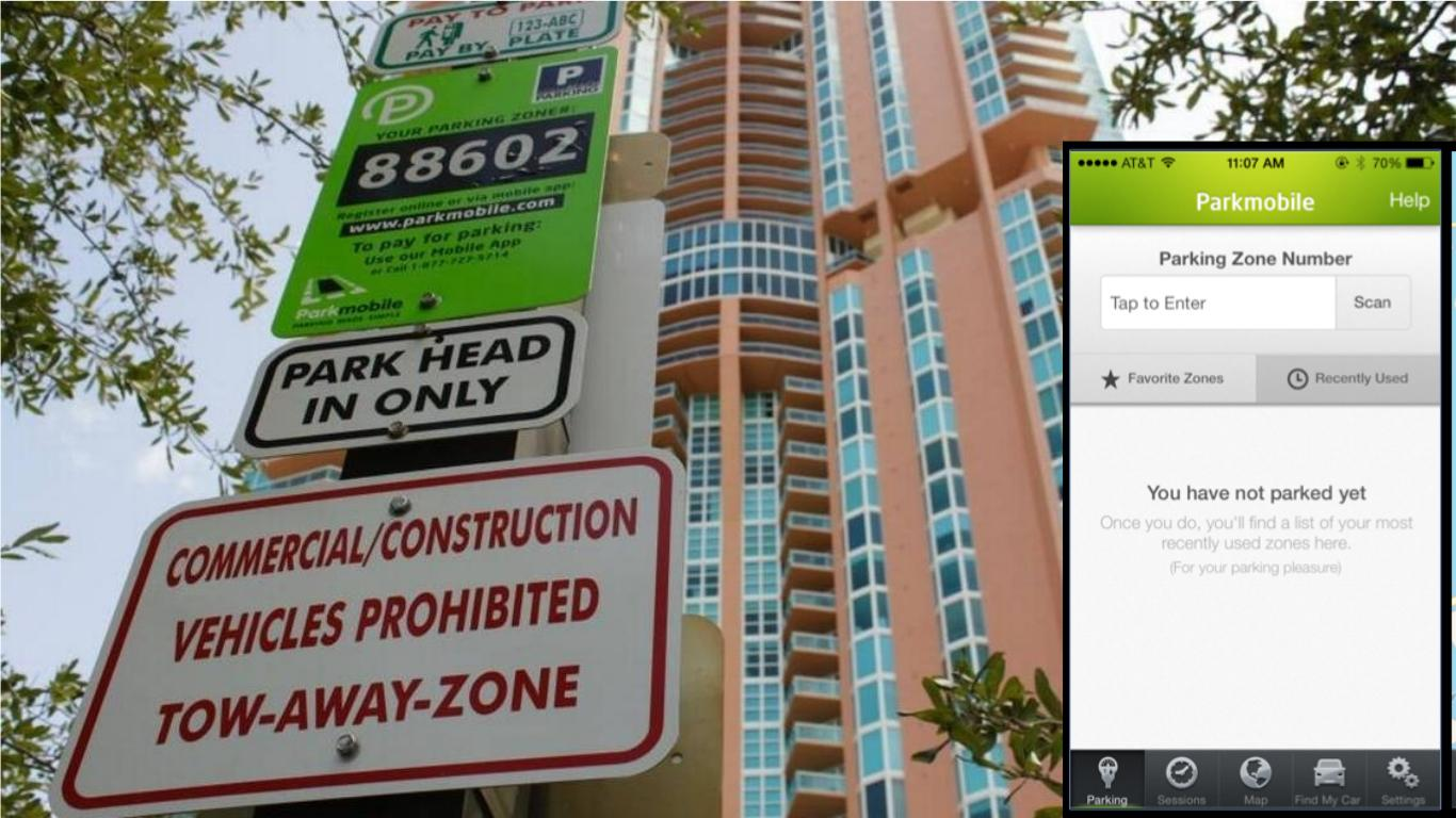Residentes de Miami Beach reciben multas tras error en la aplicación de parqueo local ParkMobile