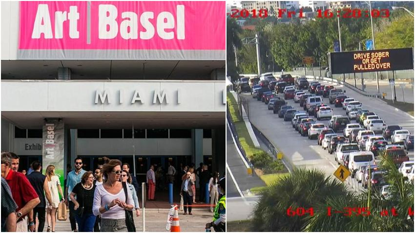 Se esperan afectaciones al tráfico en Miami Beach, Design District y el Downtown de Miami producto de Art Basel