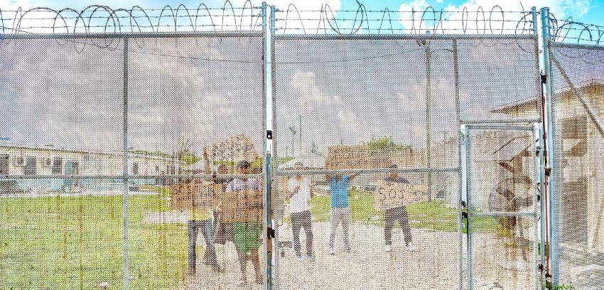 Cubanos protestan en Centro de Detención de Inmigración de Islas Caimán