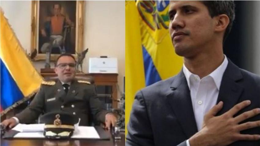 Guaidó da la bienvenida a coronel en la embajada venezolana en EEUU que envia mensaje dándole la espalda a Maduro