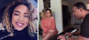 La cubanita Paola Guanche conquista a sus fans con interpretación acompañada de su padre al piano
