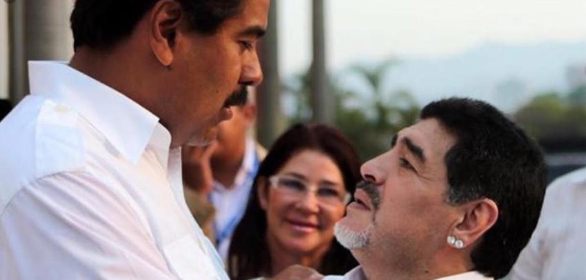Diego Armando Maradona se alía una vez más con los dictadores, y da su respaldo a Nicolás Maduro