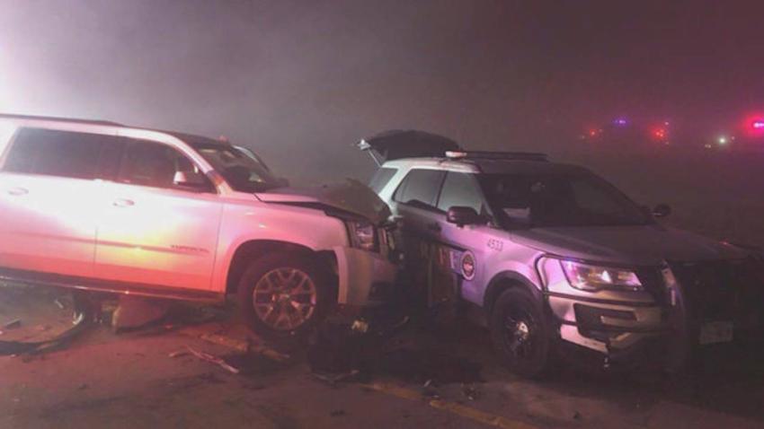 Año nuevo comienza con aparatoso accidente de 20 autos con nueve heridos