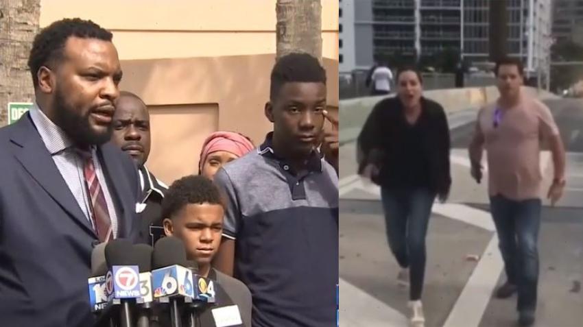 Fiscales se reúnen con adolescentes de Miami confrontados por pareja armada en Brickell para poner cargos por un posible crimen de odio