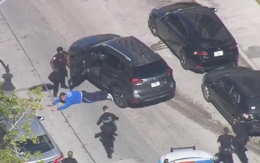 Persecución policial en Miami tras robo de auto en el Dadeland Mall