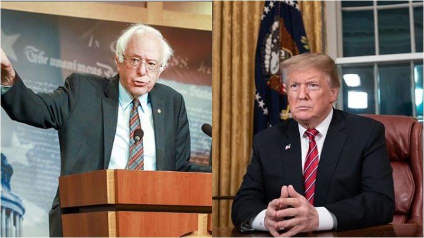 """Candidato Demócrata, el senador Bernie Sanders, pide al congreso que comience los procedimientos de """"juicio político"""" al presidente Trump"""