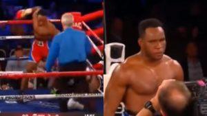 Boxeador cubano Frank Sánchez debuta con sensacional KO contra Willie Jake Jr