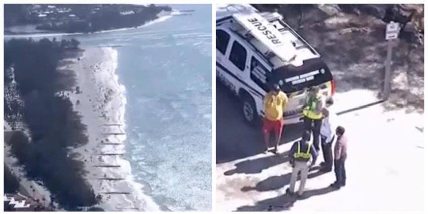 Se estrella un helicóptero en aguas del Golfo de México, autoridades investigan el accidente aéreo