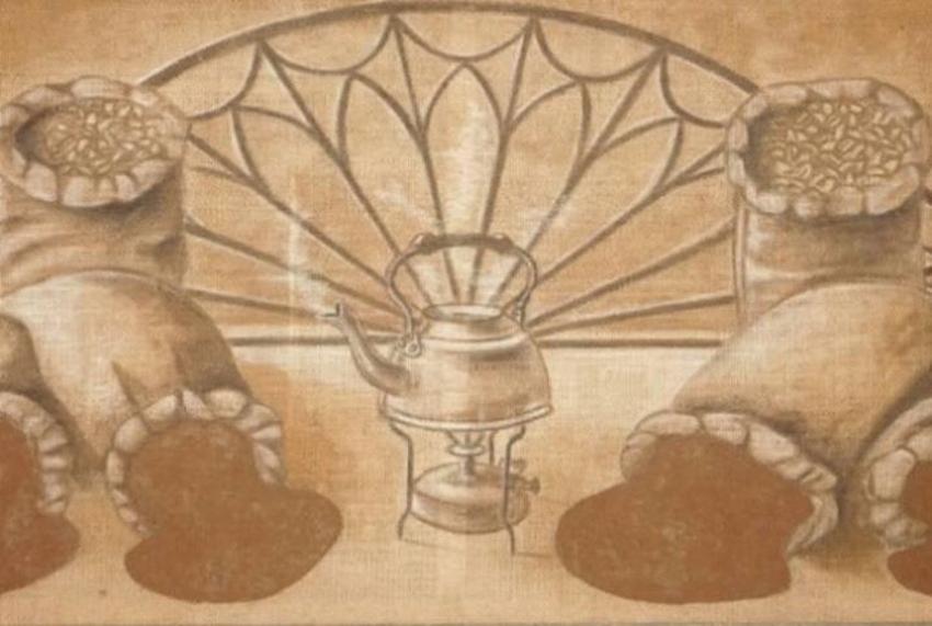 La historia del artista cubano que pinta con café