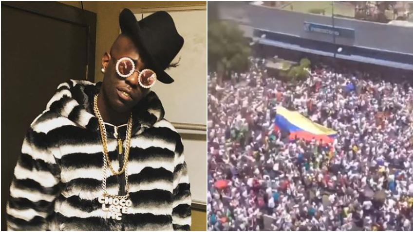 Reguetonero Chocolate MC pide a los cubanos «llenarse de valor» y hacer lo mismo que en Venezuela