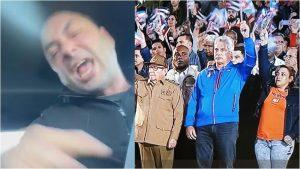 Cubano reacciona indignado por la marcha de las antorchas en Cuba