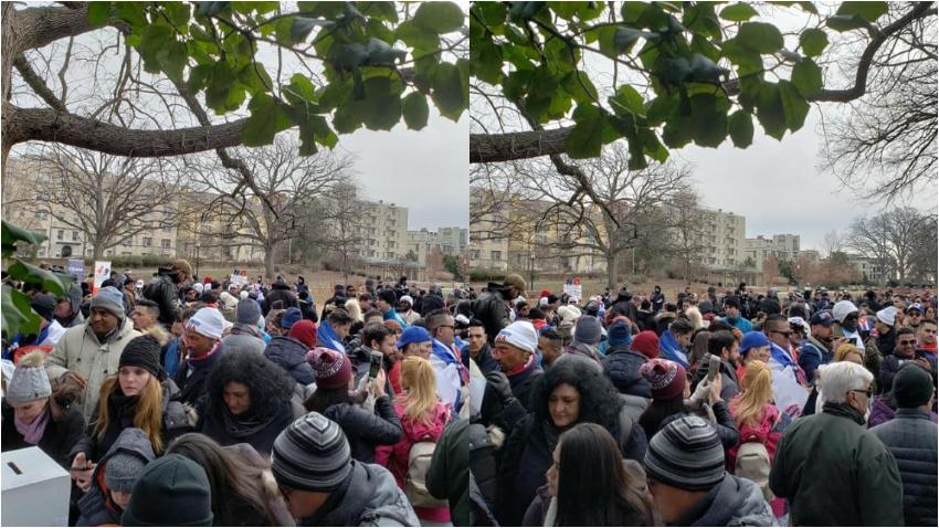 Miles de cubanos protestan frente a las embajadas de Cuba en varios rincones del mundo para decir basta