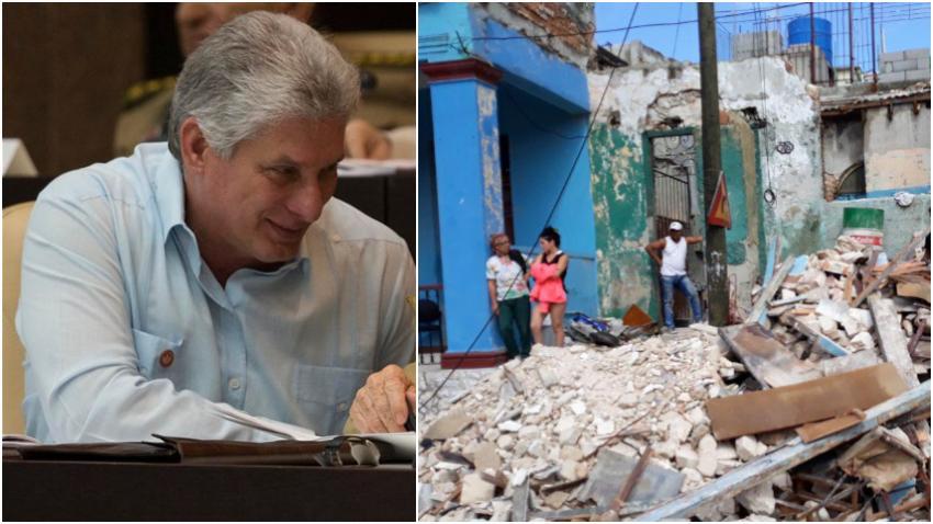 """Miguel Díaz-Canel se burla de los cubanos y de los afectados por el tornado: """"Una sociedad organizada, una economía planificada, un gobierno socialista, siempre tendrán reservas para que nadie quede desamparado"""""""