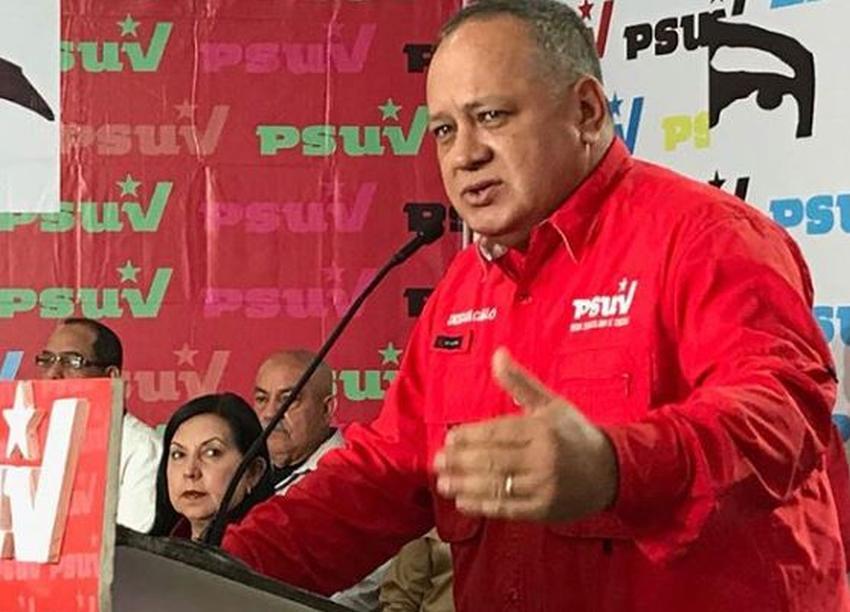 Diosdado Cabello amenaza a la embajada de Estados Unidos en Venezuela con cortarles el agua y la luz