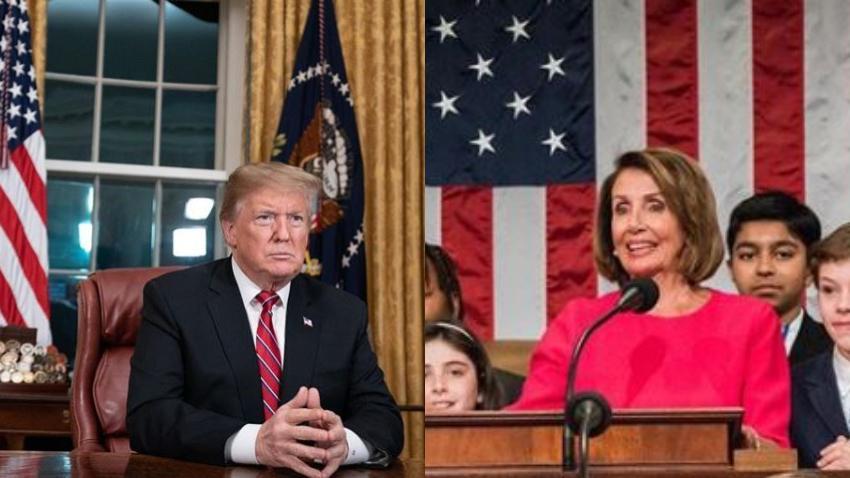 Trump anuncia que irá a dar el discurso del Estado de la Unión y Pelosi le niega el acceso a la Cámara