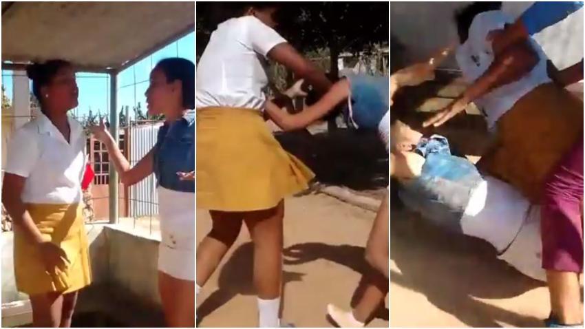 Fuerte pelea entre una alumna de secundaria y una profesora en Cuba