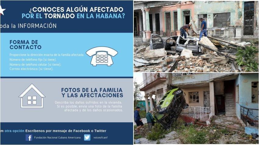 Fundación Nacional Cubano Americana convoca a rueda de prensa para organizar ayuda humanitaria para los damnificados por el tornado en La Habana