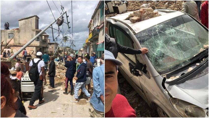 Facundo de Vivir del Cuento muestra los destrozos que dejó el tornado en La Habana