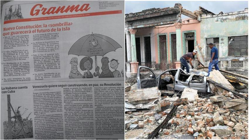 Portada de Granma en Cuba dice que la nueva constitución salvará el futuro de la isla