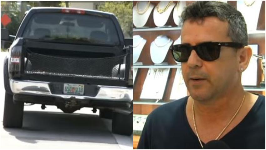 Encuentran camioneta que utilizaron para asaltar al joyero cubano de Miami Angel Grimal