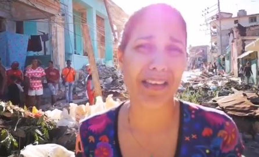Haydée Milanés, hija de Pablo Milanés, recorre las calles de La Habana y pide ayuda para los afectados