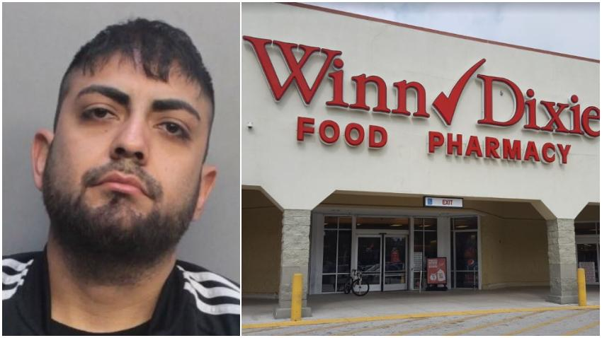 Arrestan hombre en Miami que amenazó con disparar en un Supermercado Winn-Dixie