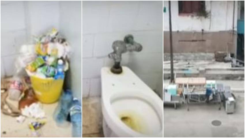 """Dramáticas imágenes que muestran el deterioro del Hospital """"La Benéfica"""" en La Habana"""