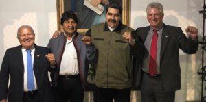 Miguel Díaz-Canel asiste a la toma de posesión del dictador Nicolás Maduro