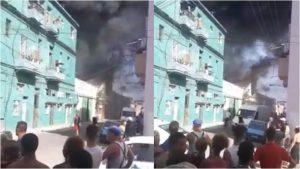 Fuerte incendio en Centro Habana