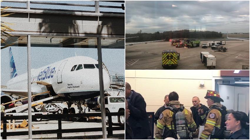Avión de la aerolínea Jet Blue  aterriza de emergencia en Orlando