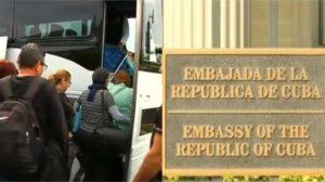 Cubanos de Miami salen hacia Washington para participar en la Marcha de los Prohibidos frente a la Embajada de Cuba en Estados Unidos