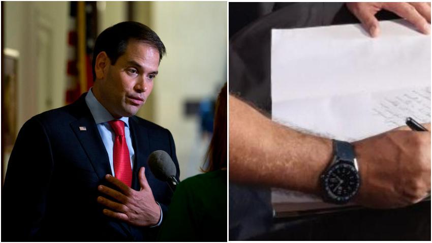 """Senador Marco Rubio ironiza sobre el reloj de $1700 dólares de Díaz-Canel: """"Estoy seguro de que es un falso TAG Heuer de China"""""""