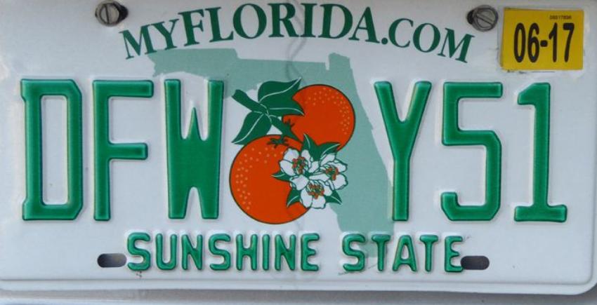 Rechazan placas personalizadas en Florida, por considerarlas vulgares