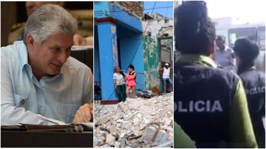 """Cubano indignado al ver a la policía en Cuba bloqueando ayudas escribe carta abierta: """"Si el Apóstol viera estas cosas"""""""