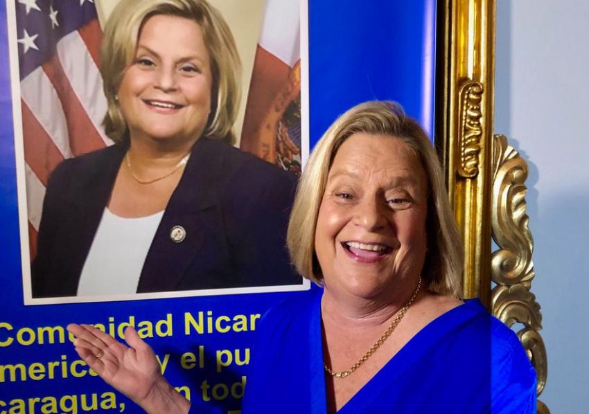 Comunidad nicaragüense en Miami rinde homenaje a Ileana Ros-Lehtinen