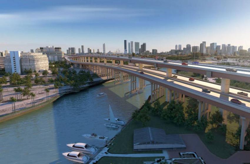 """Miami se prepara para construirle un """"segundo piso"""" a un tramo del Dolphin Expressway"""