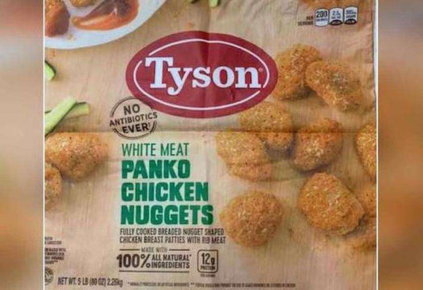 Tyson Foods retira 18 toneladas de nuggets de pollo por tener pedazos de goma