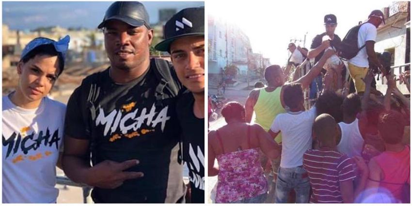 Ana María, la esposa de El Micha y su equipo de trabajo ayudan a los damnificados en La Habana