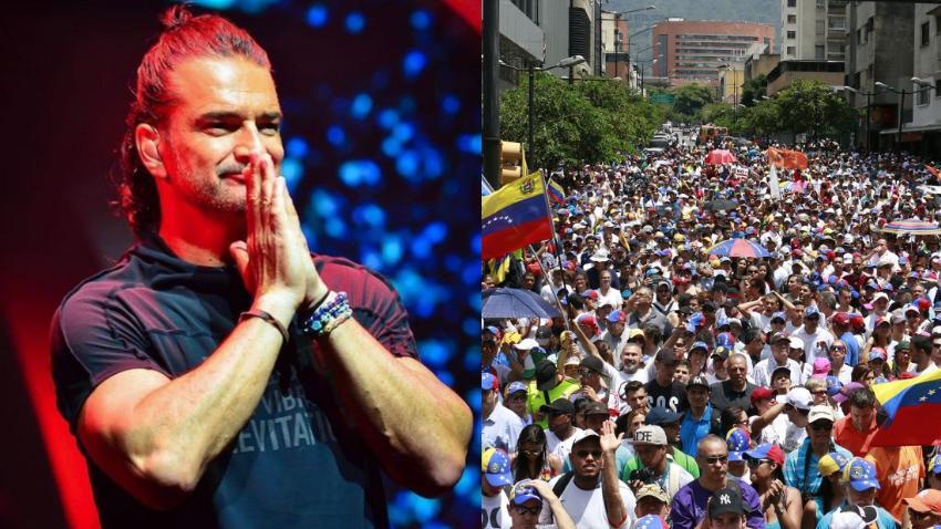 """Mensaje de Ricardo Arjona al pueblo venezolano: """"Nadie sabe más del futuro que la voz de un pueblo que reclama lo que le pertenece"""""""