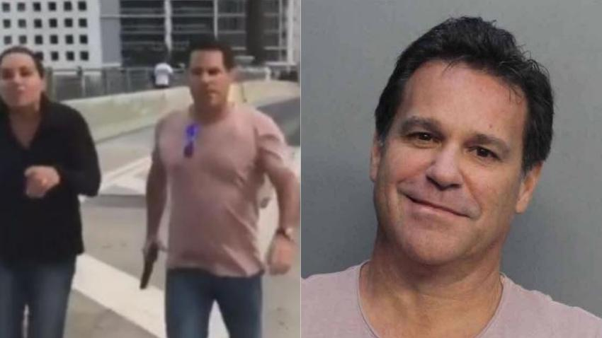 """Fiscal pone cargos de """"felonía con prejuicio"""" al hombre armado que enfrentó a los adolescente en el puente de Brickell en Miami"""