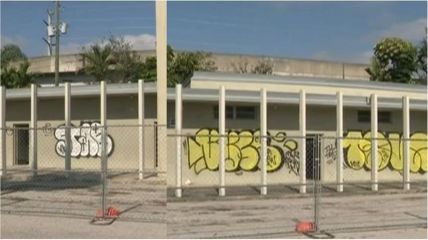 Vandalizan la estación de bomberos de Coral Gables, autoridades buscan a los responsables