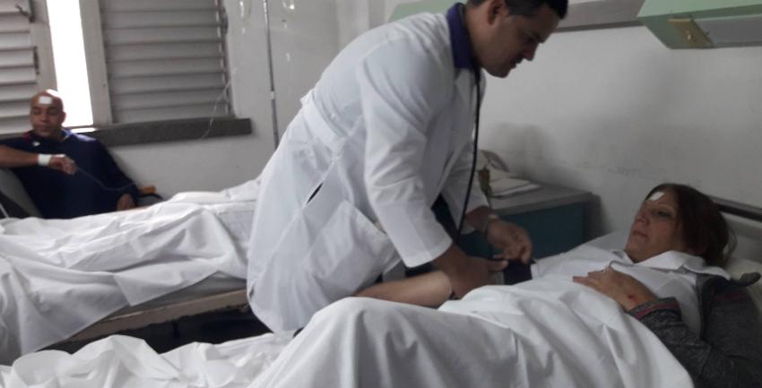 Once lesionados por accidente masivo en la carretera de San Juan y Martínez, en Pinar del Río