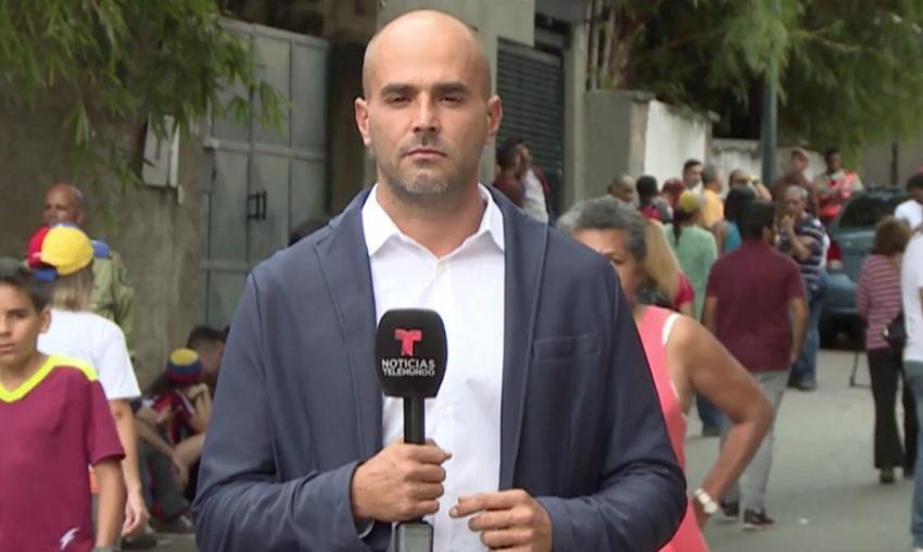 Secuestraron a reportero de Telemundo en Venezuela, y le confiscaron sus equipos de trabajo