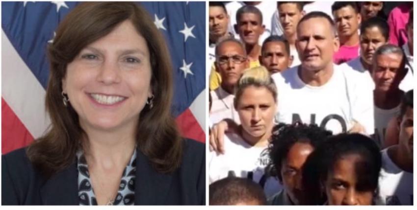 Encargada de Negocios de la Embajada de EEUU en Cuba visitó a opositores al régimen en huelga de hambre