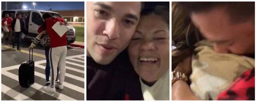 Después de nueve años, el cantante cubano Erick Lexi pudo reencontrarse con su madre en Texas