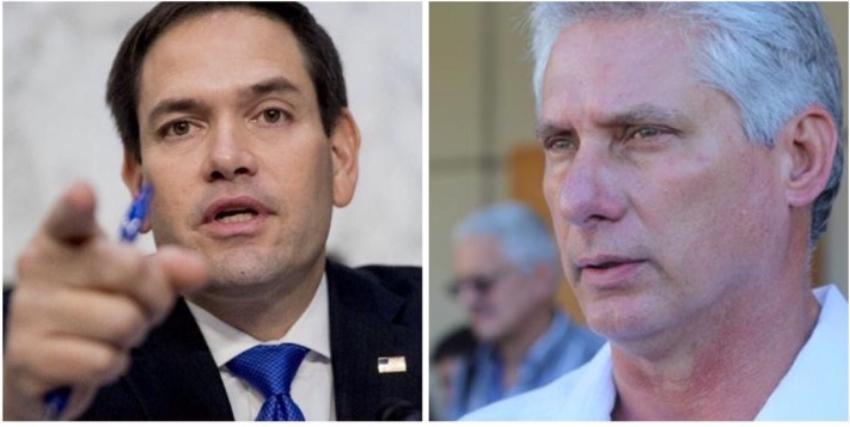 """Marco Rubio envía mensaje a Díaz-Canel en Twitter: """"Te vemos pronto"""""""