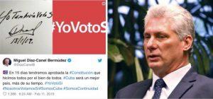 Díaz-Canel recibe una avalancha de críticas, luego de que revelara el fraude que cometerán con el referendo constitucional