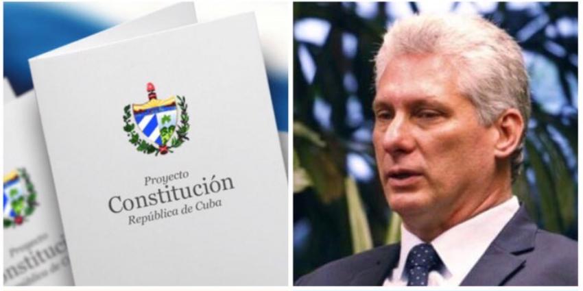 """Miguel Díaz-Canel ha ratificado en Twitter que la """"Constitución Va"""", en respuesta a las críticas de la OEA"""